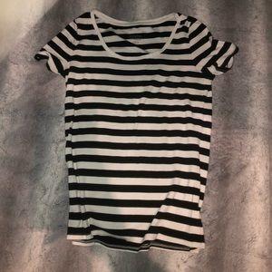 Tops - Black&white stripped shirt